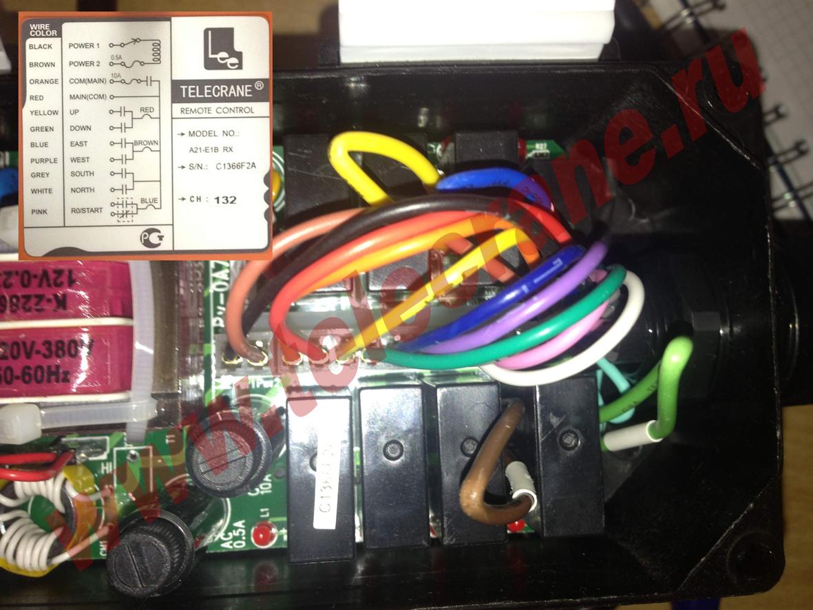 Телекран радиоуправление схема